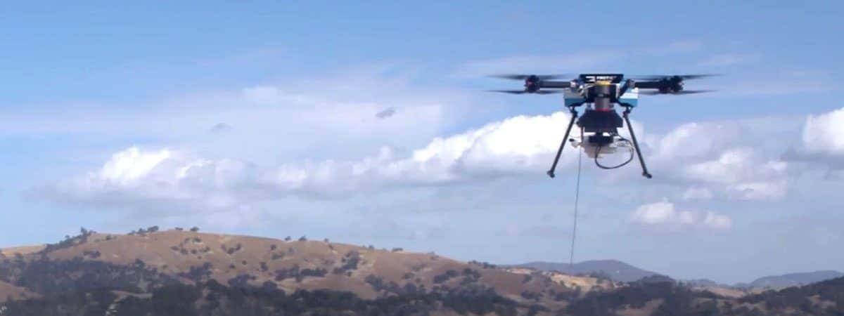 Drone com torre 4G da AT&T, o Flying COW