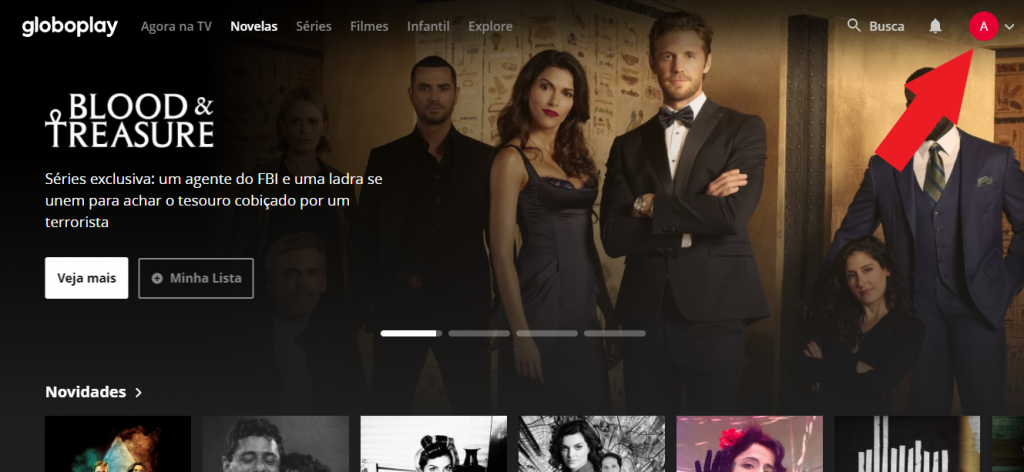Print do site do Globoplay