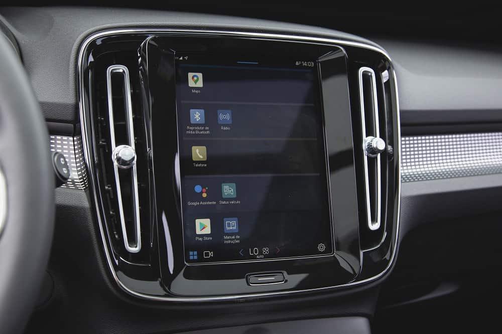 Google Automotive Services no XC40 Recharge Pure Electric