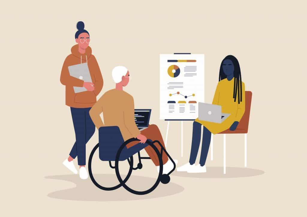 Ilustração de um reunião
