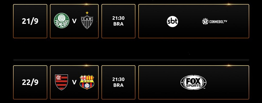 Jogos da semifinal da Libertadores 2021