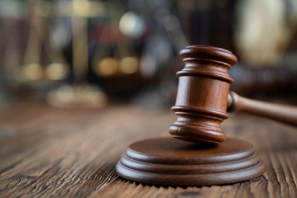 martelo do tribunal de Justiça
