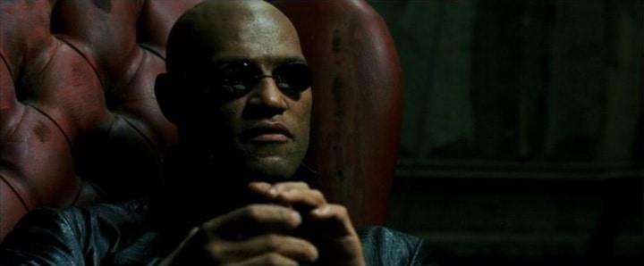 Laurence Fishburne como Morpheus em 'Matrix'