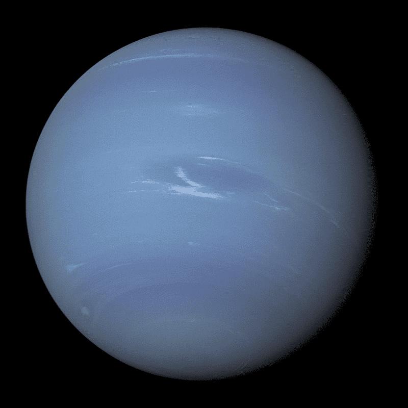 Netuno fotografado pela sonda Voyager 2 em 1989