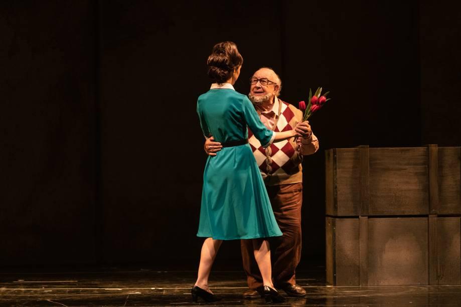 Sérgio Mamberti e Rita Batata na peça