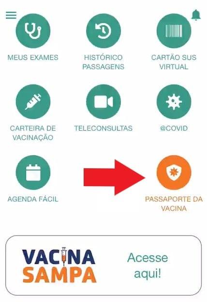 Print do aplicativo e-saúde SP