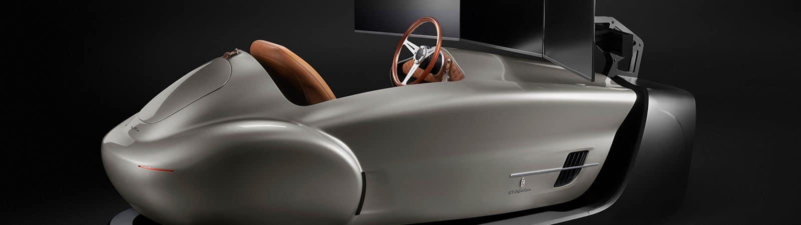 Simulador eClassic Leggenda da Pininfarina e TCCT na cor prateada