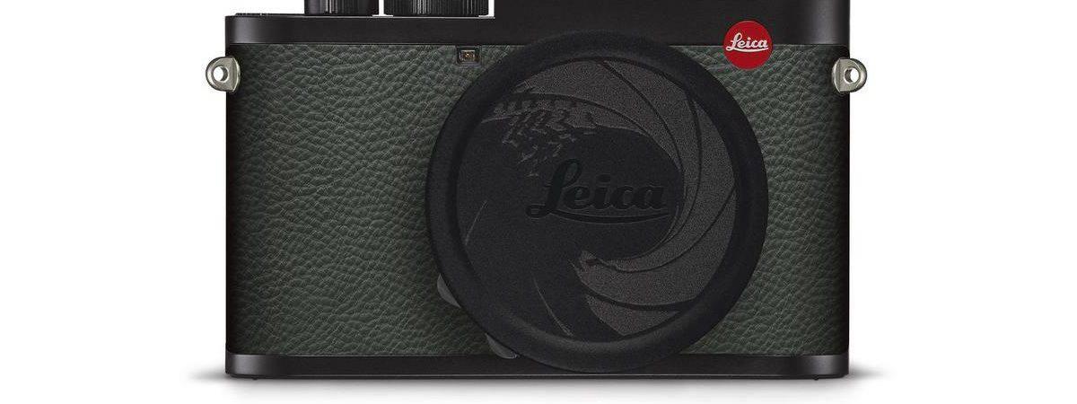 Câmera Leica 007 Edition com a tampa da lente