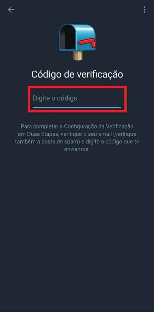 Print do aplicativo do Telegram