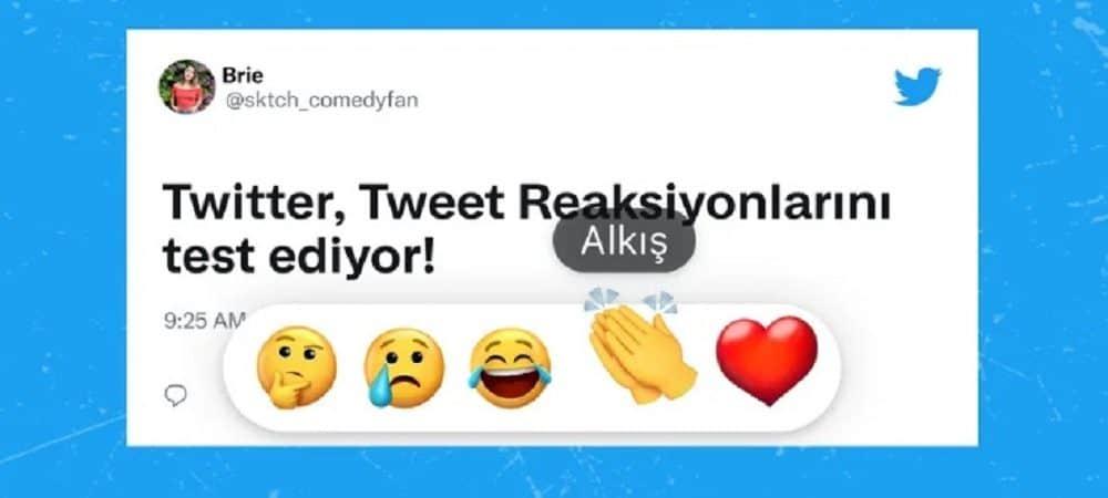 Twitter testa reações com emojis