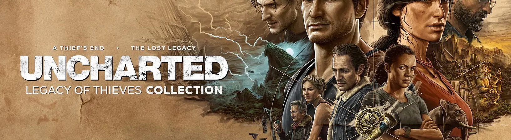 'Uncharted: Legacy of Thieves Collection' é anunciado para PS5 e PC. Imagem: PlayStaion/Divulgação
