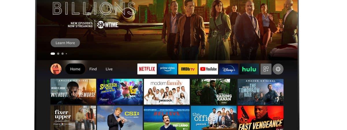 Renderização das novas Fire TVs da Amazon