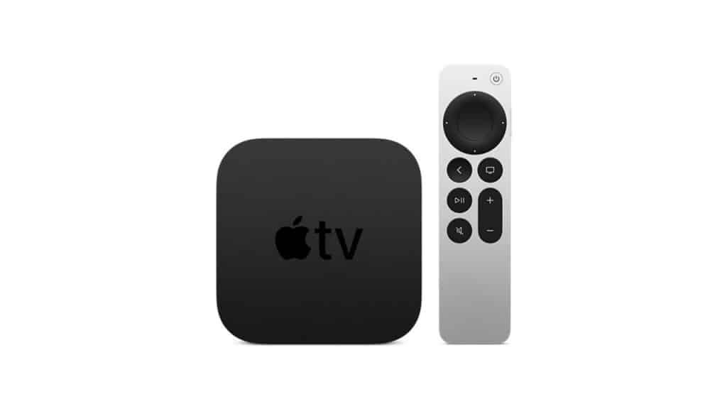 Imagem mostra a Apple TV, junto de seu controle remoto. Aparelho é o mais caro TV Box do mercado