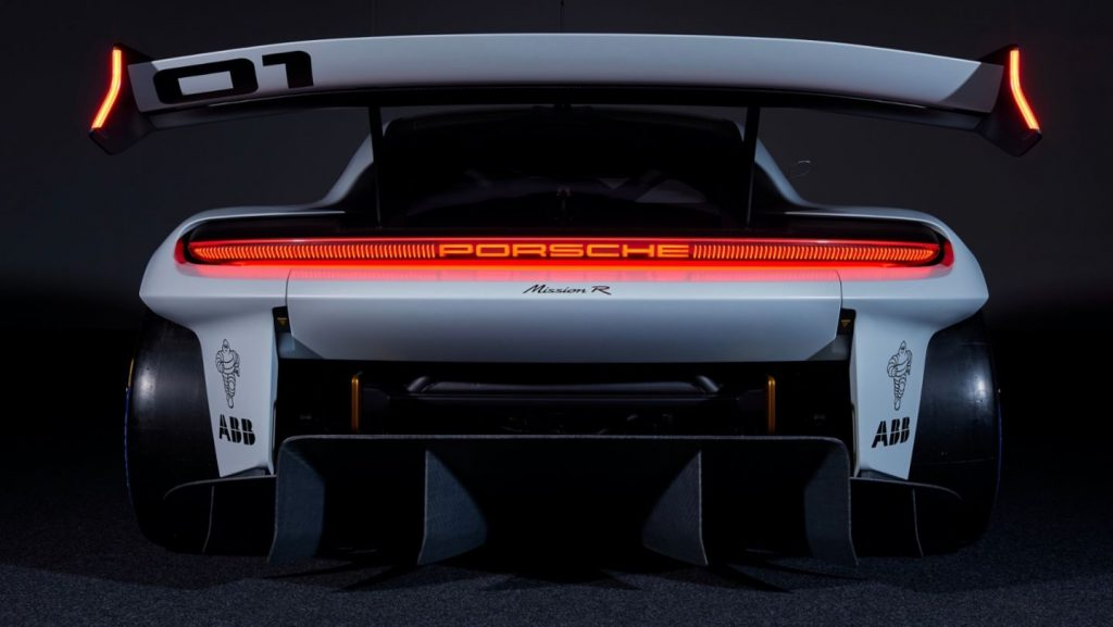 asa do conceito de carro elétrico da Porsche