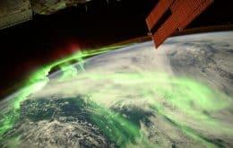 Show de imagens: astronautas da ISS registram aurora austral vista do espaço