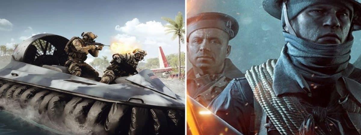 EA está liberando duas expansões do 'Battlefield 1' e '4' de graça. Imagem: Montagem/Gamerant/Reprodução