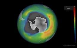 Buraco na camada de ozônio sobre a Antártica cresceu mais do que o esperado para 2021