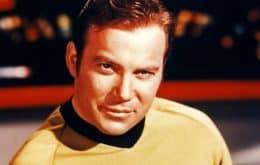 Capitão Kirk, de Star Trek, em um voo espacial de verdade pela Blue Origin?