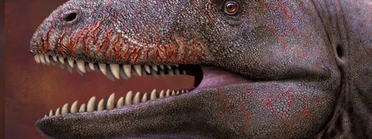 Ilustração 3D de um Carcarodontossauro