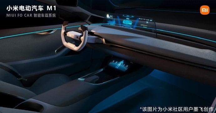 Possível design do M1, primeiro carro elétrico da Xiaomi