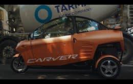 Elétrico e divertido: Carver mistura scooter e carro em solução para trânsito urbano