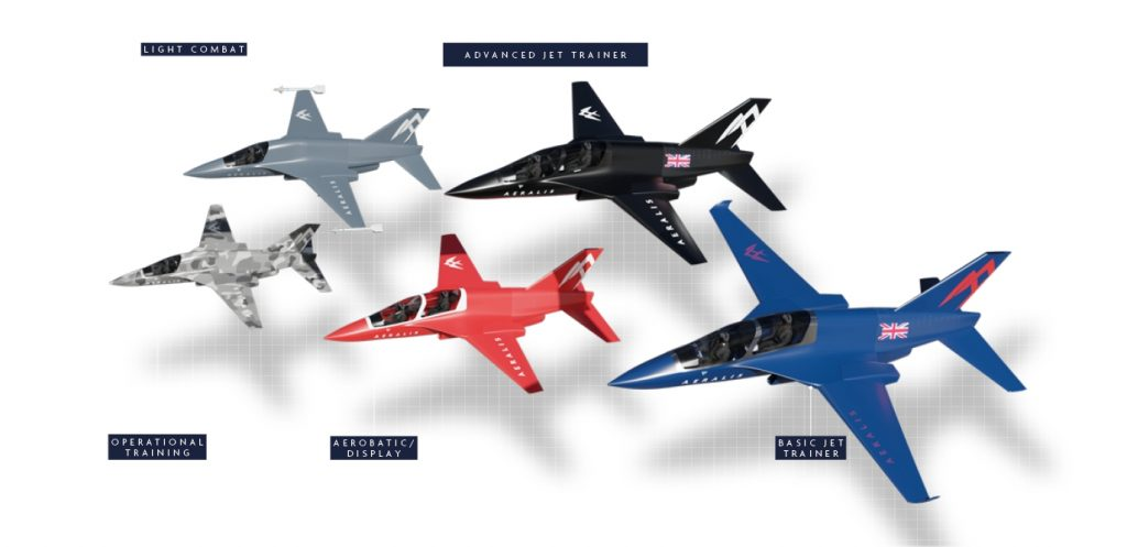 cinco modelos Aeralis