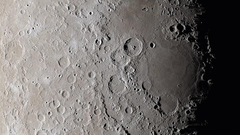 Imagem mostra a superfície da Luz, cujas amostras recentes datam de 2 bilhões de anos.