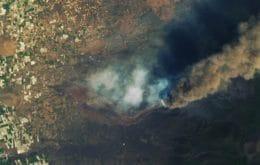 Veja imagens do vulcão Cumbre Vieja feitas pelo satélite Landsat 8 da Nasa