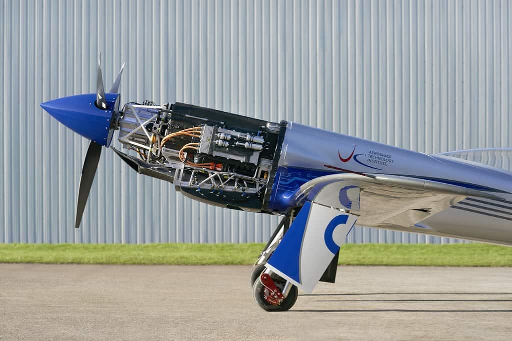 detalhes do motor do avião elétrico da Rolls-Royce