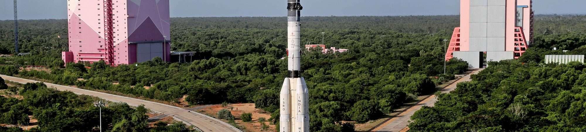 Base de lançamento do foguete GSLV-F10, na Índia