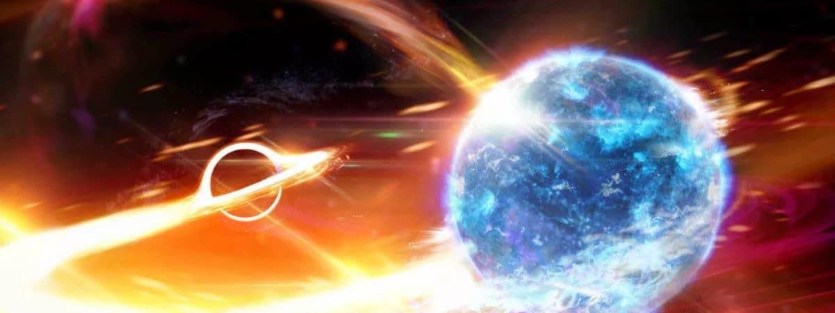 Ilustração mostra uma estrela devorando um planeta