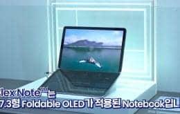 Samsung muestra video de FlexNote, una computadora portátil con pantalla OLED plegable