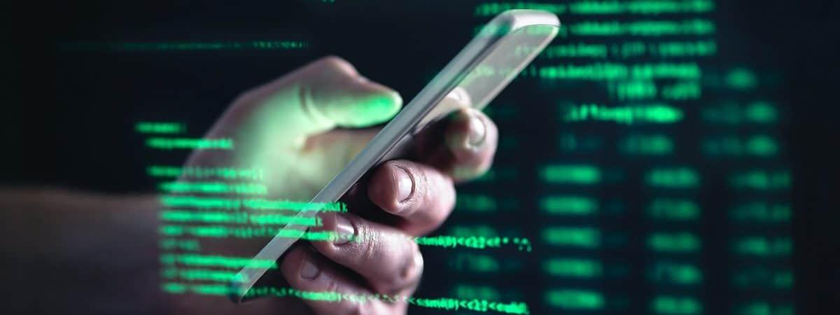 Imagem-conceito para fraude de celular