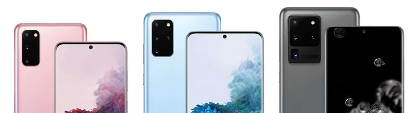 Galaxy S20, S20+ e S20 Ultra (Imagem: divulgação/Samsung)