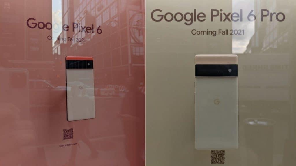 Google Pixel 6 surge em vitrine de loja em Nova York. Reprodução:9to5Google