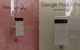 Google: Pixel 6 é exibido em vitrine de Nova York
