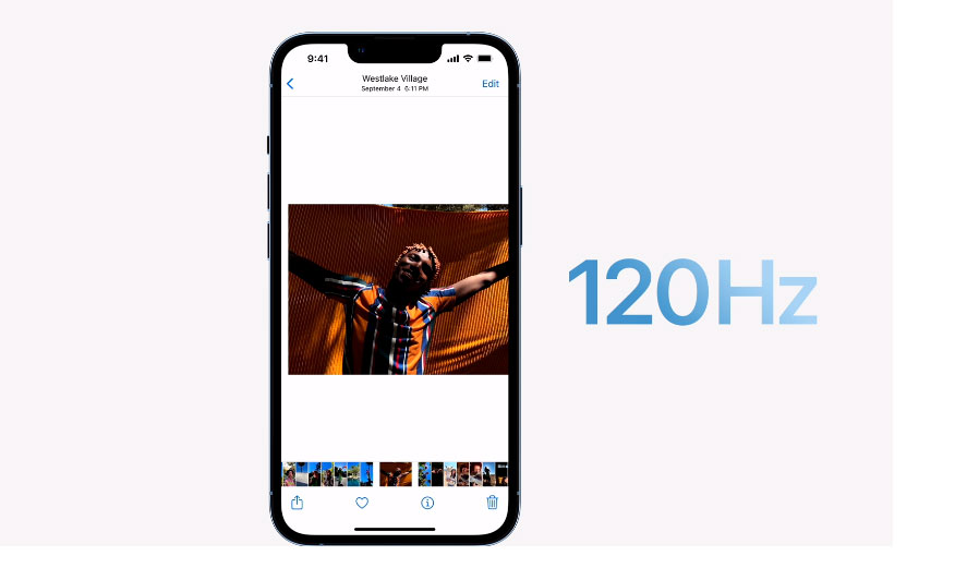 iPhone 13 Pro and Pro Max hit the market with 120 Hz ProMoTion screens. Image: Apple/Publishing