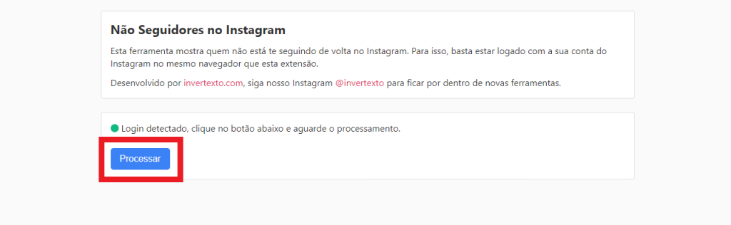 """Impresión de la extensión """"No hay seguidores en Instagram"""""""