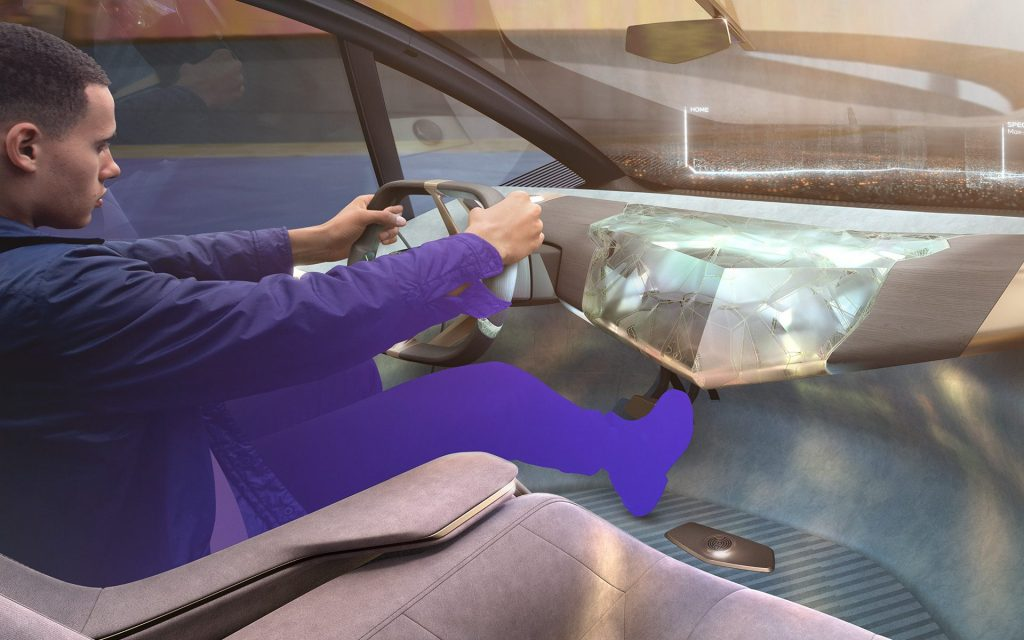 BMW illustration of the interior of the i Vision Circular concept