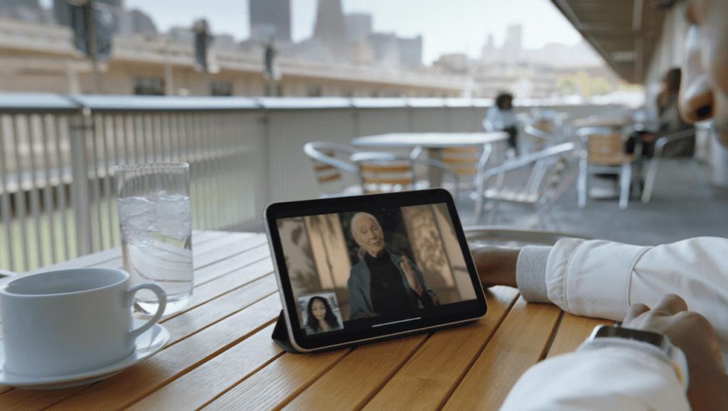 Imagem de divulgação da Apple mostra o novo iPad Mini (2021) (Imagem: divulgação/Apple)
