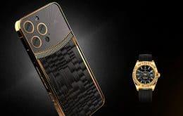 Luxo para poucos: Caviar lança versões do iPhone 13 inspiradas em relógios da Rolex