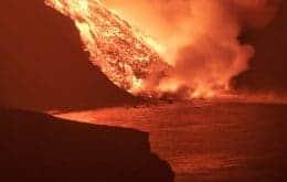 """Vulcão Cumbre Vieja provoca a formação de um """"delta"""" no Oceano Atlântico; veja"""