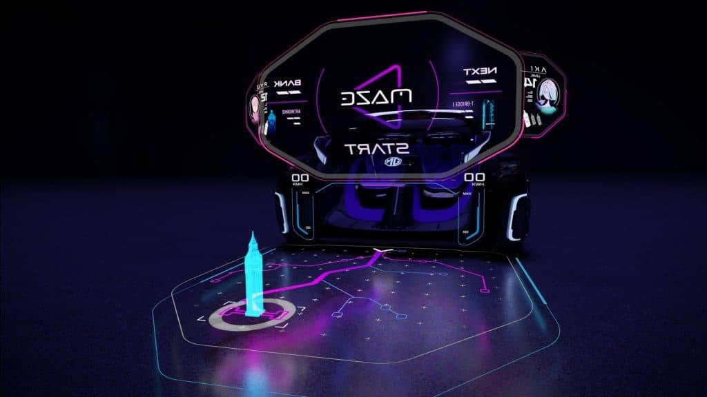 ilustração de como seria a reprodução de um mapa 3D pelo MG Maze