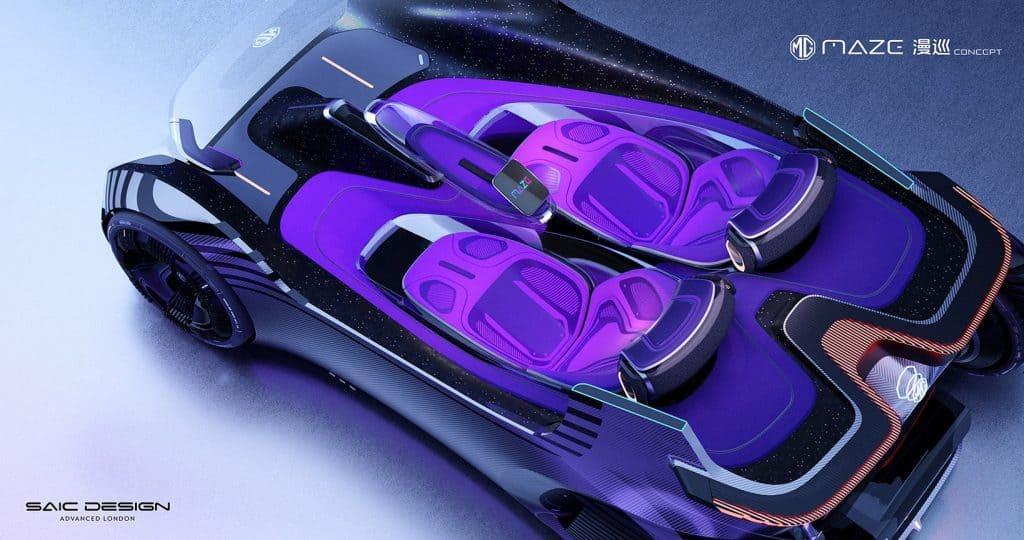 imagem por cima do carro conceito
