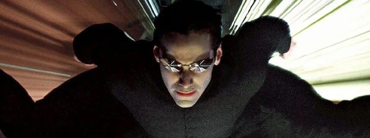 Keanu Reeves como Neo em 'The Matrix'. Imagem: Warner Bros./Divulgação