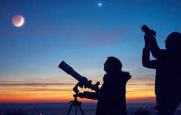 Veja a Lua formando um triângulo com Vênus e Spica nesta noite