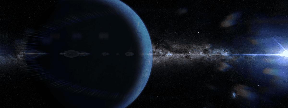 """Ilustração mostrando o suposto """"Planeta Nove'"""
