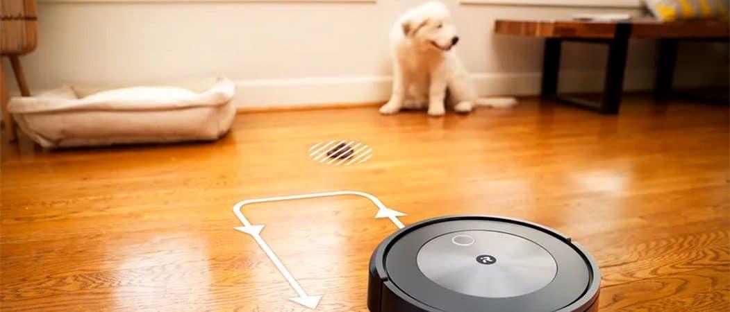 Roomba anuncia robô que utiliza IA para desviar dos 'presentes' deixados pelo seu pet. Imagem: Roomba iRobot