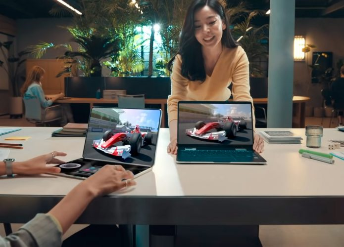 FlexNote, protótipo de notebook com tela OLED dobrável da Samsung Display