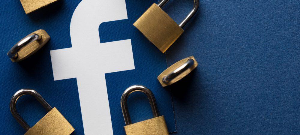 Imagem ilustra conceito de segurança no Facebook. Um conjunto de cadeados aparece com o logotipo do Facebook